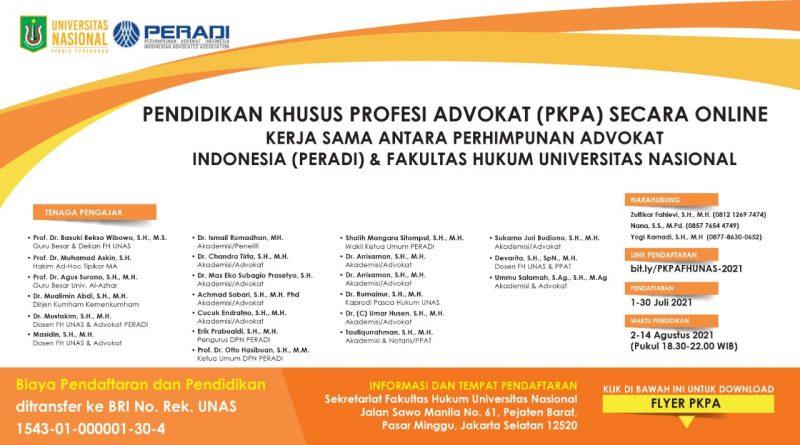 Pendidikan Khusus Profesi Advokat (PKPA) Secara Online
