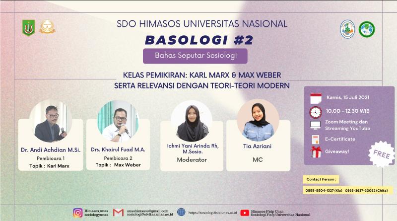 Web-Banner-SDO-HIMASOS-UNAS-BASOLOGI-2-Kelas-Pemikiran-Karil-Marx-&-Max-Weber-Serta-Relevansi-Dengan-Teori-Teori-Modern