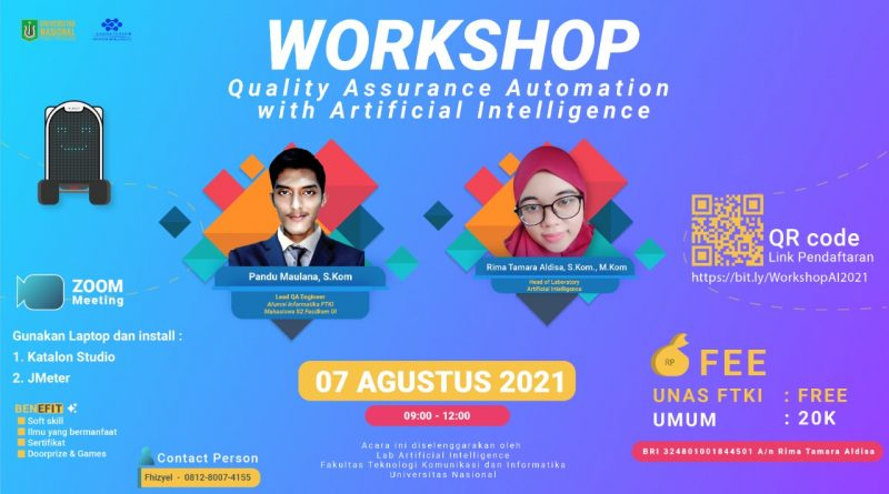 Workshop Quality Assurance Automation With Artificial Intelligence