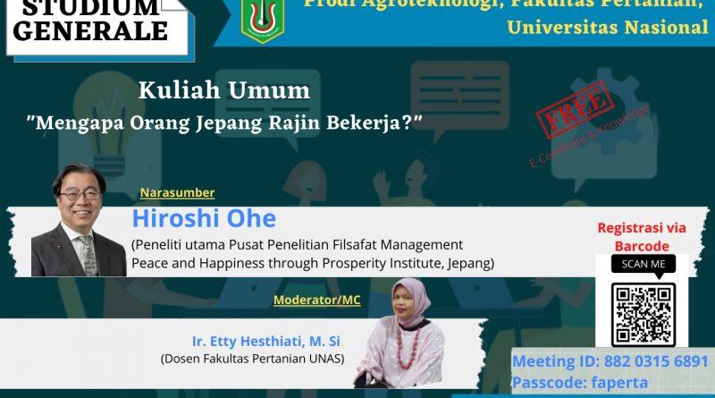 Kuliah Umum Program Studi Agroteklnologi Fakultas Pertanian Universitas Nasional