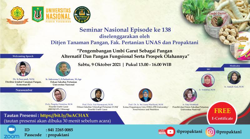 Seminar-Nasional-Episode-Ke-138-Diselenggarakan-Oleh-Dirjen-Tanaman-Pangan-Fakultas-Pertanian-UNAS-dan-Propaktani